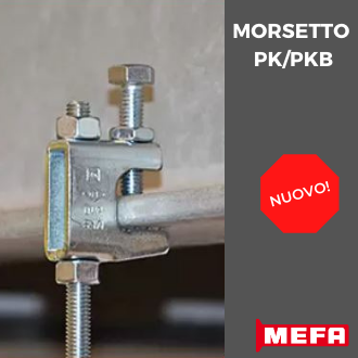 Morsetto PK/PKB per connessione con carpenteria metallica