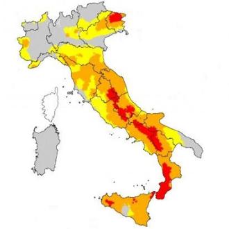 aree rischio sismico italia